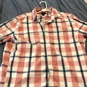 J. Crew plaid button down shirt size Large